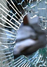 Broken Toughened Glass