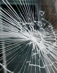Broken Laminated Glass
