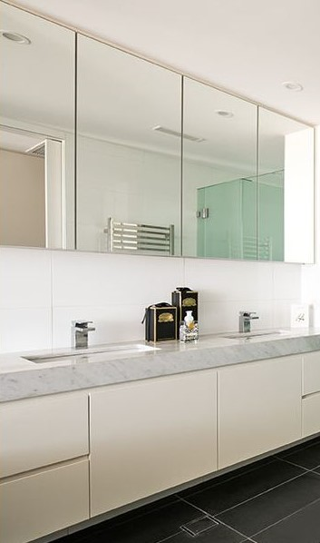 Set of bathroom mirror doors