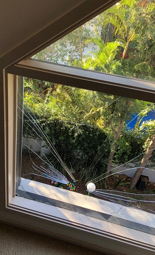 Broken annealed glass